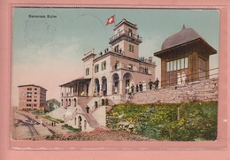 OUDE POSTKAART ZWITSERLAND - SCHWEIZ -  SUISSE -  TRANSPORT -      STATION - GENEROSO KULM - GEANIMEERD - STEMPEL HOTEL - TI Ticino