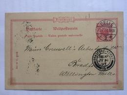 GERMANY - 1897 Postcard Celle To Bradford England - Deutschland