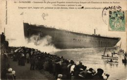 CPA ST-NAZAIRE Chantiers De Penhoet. Lancement De LA PROVENCE (864360) - Saint Nazaire