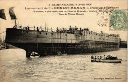 CPA ST-NAZAIRE Lancement De L'ERNEST-RENAN (864364) - Saint Nazaire