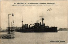 CPA ST-NAZAIRE Le Croiseur-cuirassé ERNEST-RENAN (864365) - Saint Nazaire