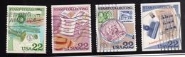 STATI UNITI UNITED STATES 1985 1986 USA AMERIPEX 86 COMPLETE SET SERIE COMPLETA USED  USATA OBLITERE' - Etats-Unis