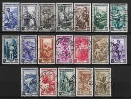 ITALIE    -     1950.    Y&T N° 572 à 590  Oblitérés.   Série Complète Des Métiers. - 1946-60: Oblitérés