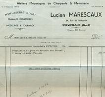 WERVICQ SUD  FACTURE LUCIEN MARESCAUX - Francia