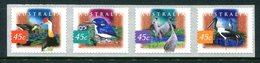 Australia 1997 Fauna & Flora - 2nd Issue - Self-adhesive - P.12½ X 13 - Set MNH (SG 1687d-1690d) - 1990-99 Elizabeth II