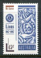 Australia 1997 50th Anniversary Of First Australian Lions Club MNH (SG 1692) - Mint Stamps