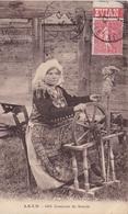 73. CHAMOUX SUR GELON (ENVOYÉ DE). CPA. RARETE..FEMME AU ROUET ANNEE 1927 + TEXTE. SÉRIE COSTUME DE SAVOIE - Chamoux Sur Gelon