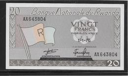 Rwanda - 20 Francs - Pick N°6e - NEUF - Rwanda