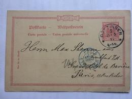 GERMANY - 1891 Postcard Gottingen To Paris - Deutschland