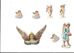 Lot De 7  Découpis : Enfants Anges - Angeli