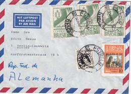 BRESIL 1970 PLI AERIEN DE ESTRELA POUR BERLIN - Brésil