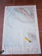 1952 ZADAR CROATIA JNA YUGOSLAVIA ARMY MAP MILITARY CHART PLAN ADRIATIC SEA VIR MAUN KVARNER ISLAND SV TOMA BRUŠNJAK - Cartes Topographiques