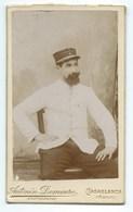 PHOTO C.D.V Portrait MILITAIRE Casablanca MAROC  DIM :11cm / 6,5 Cm - Photos