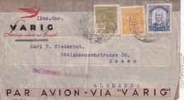 BRESIL 1940 PLI AERIEN CENSURE DE PORTO ALEGRE POUR ESSEN  VIA VARIG - Brazilië