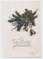 AI64 Greetings - Gute Wunsche Zum Weihnachtsfest, Bells, Pine Branch - Christmas