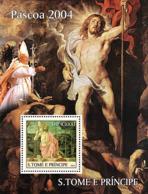 Sao  Tome 2004  Easter Paintings , Pope John Paul II - Sao Tome And Principe