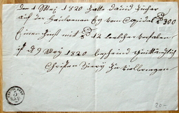 """Schweiz Suisse 1820: Amtliche Quittung Mit Wappen-Trockensiegel (oben Rechts) Und Stempel """"CANTON BERN 5 Rap"""" - Gebührenstempel, Impoststempel"""