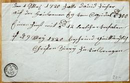 "Schweiz Suisse 1820: Amtliche Quittung Mit Wappen-Trockensiegel (oben Rechts) Und Stempel ""CANTON BERN 5 Rap"" - Seals Of Generality"