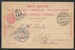1901 SCHWEIZ GZ Nach SCHWEDEN - SCHIFFSPOST Fährschiff-Stempel Sassnitz-Trelleborg - Postmark Collection