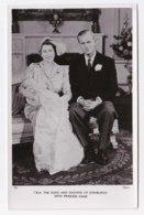 AK97 Royalty - T.R.H. The Duke And Duchess Of Edinburgh With Princess Anne - Tuck RPPC - Royal Families