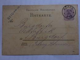 GERMANY - 1888 Postcard Horde To Burgdorf - Allemagne