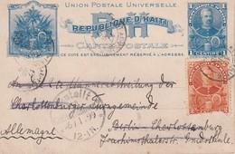 HAITI 1898       ENTIER POSTAL/GANZSACHE/POSTAL STATIONERY  CARTE DE PORT-AU-PRINCE - Haiti
