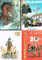 CARTES PUBLICITAIRES BANDE DESSINEE : 23 Cartes Dont Certaines Avec Timbre Et Oblitération Spéciale. - Comics