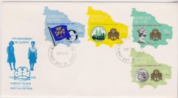 Norfolk Island 1978 Guiding - Girl Guides Anniversary Unaddressed FDC - Norfolk Island