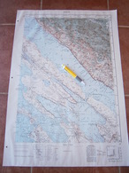 1959 ZADAR CROATIA JNA YUGOSLAVIA ARMY MAP MILITARY CHART PLAN ADRIATIC SEA BARIĆ DRAGA LJUBAČ VRST PRIVLAKA POVLJANA - Topographical Maps