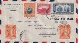 HAITI 1939 PLI AERIEN DE PORT-AU-PRINCE POUR ZURICH - Haiti