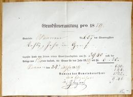 Schweiz Suisse 1859: Grundsteuer-Quittung Pro 1859 Namens Des Gemeinderathes (Vertikal-Bug - Pliée Verticale) - Seals Of Generality
