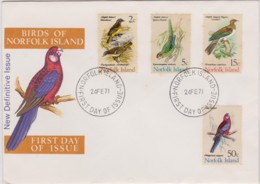 Norfolk Island 1971 Birds Unaddressed FDC - Norfolk Island