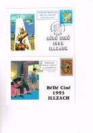 FESTIVAL BANDE DESSINEE ILLZACH ( FRANCE) : 8 Cartes Avec Flammes Ou Oblitérations Spéciales. - Comics