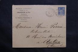 FRANCE - Enveloppe Commerciale (Musique ) De Paris Pour Autun En 1900 - L 34288 - Marcophilie (Lettres)