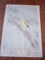 1957 ZADAR CROATIA JNA YUGOSLAVIA ARMY MAP MILITARY CHART PLAN ADRIATIC SEA Božava Dugi Otok RAVA TUN VELI MOLAT PRAGOVE - Topographische Kaarten