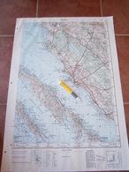 1959 ZADAR CROATIA JNA YUGOSLAVIA ARMY MAP MILITARY CHART PLAN ADRIATIC SEA PREKO MURVICA BOKANJAC BIBINJE PAŠMAN IŽ - Topographical Maps