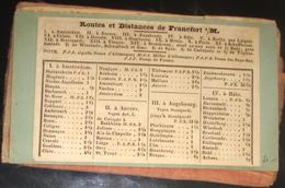Routes Et Distances De Francfort S/M.s à Amsterdam > à Töplitz Sur 4 Pages (2 Feuilles) Collé Sur Un Carton Vert - Europe