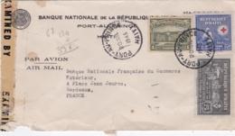 HAITI  :  Divers Sur Lettre De Port-au-Prince De 1945 . Bande De Censure - Haiti