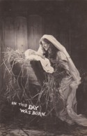 AR38 Religious Postcard - On This Day Was Born - RPPC - Jesus