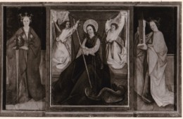 AR38 Religious Postcard - Panels Showing Saints - RPPC - Other