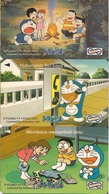 Malaysia, GPT (Magnetic) Phone Card, Fujiko (Doraemon) Cartoons, 3-Cards (RM5) - Malaysia