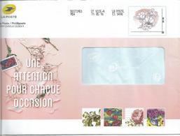 """PAP TSC PHILAPOSTE MonTimbraMoi """" Fleurs Sans Mention Tarifaire  """" (Une Attention Pour Chaque Occasion 2018) - Ganzsachen"""