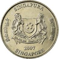 Monnaie, Singapour, 20 Cents, 2007, Singapore Mint, TTB, Copper-nickel, KM:101 - Singapour