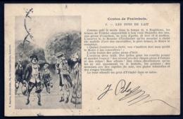 CPA PRECURSEUR- FRANCE- LUNEVILLE (54)- CONTES DE FRAIMBOIS EN PATOIS EN 1900- LES POTS DE LAIT N° 1- - Luneville
