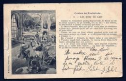 CPA PRECURSEUR- FRANCE- LUNEVILLE (54)- CONTES DE FRAIMBOIS EN PATOIS EN 1900- LES POTS DE LAIT N° 2- - Luneville