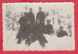 244849 / Gabrovo - WINTER SCHOOL UNIFORM MEN  , Vintage Original Photo , Bulgaria Bulgarie - Personnes Anonymes
