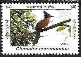 Banladesh - MNH - 2012 -    Chestnut-winged Cuckoo    Clamator Coromandus - Cuckoos & Turacos