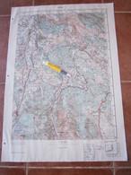 1951 KNIN CROATIA JNA YUGOSLAVIA ARMY MAP MILITARY CHART PLAN GORNJI TIŠKOVAC RESANOVCI VRTAČE JADRIN POD NASLON GRUBORS - Mapas Topográficas