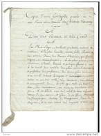 PAPIER - Copie D'une Epitaphe ( Péronnelle De Champagne - La Suze , épouse De Jacques De Montgomery - 1551-1609 ) - Manuscritos