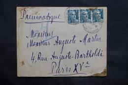 FRANCE - Enveloppe En Pneumatique De Paris En 1945 - L 34313 - 1921-1960: Période Moderne